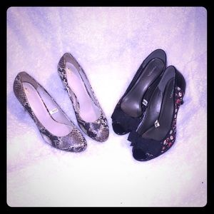 2 pairs of cute heels - Size 11. (1F)